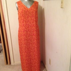 Cynthia Howie Dresses & Skirts - Coral Print Sleeveless