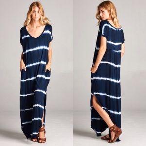 ❗️LAST❗️ Oversized Navy Maxi Dress with Pocket