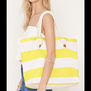 🎉Host Pick🎉 Yellow striped tote