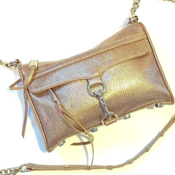 55b19c43a0d Rebecca Minkoff Metallic Mini MAC Crossbody Bag