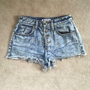 Wildfox high waisted denim shorts