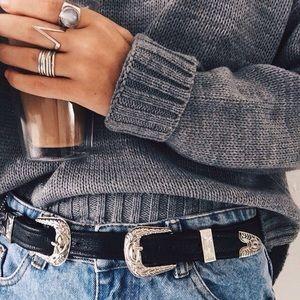 B-Low the Belt Accessories - Double Buckle Belt by Raina Belts