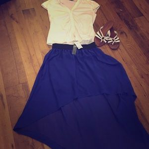 Dresses & Skirts - High low flowy skirt: Blue