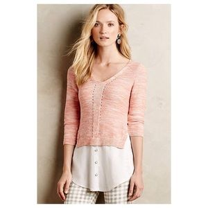 Anthropologie Layered Aselin Pullover NWT