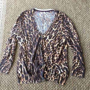 Leopard Print Lucky Brand Cardigan