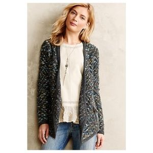 Anthropologie Keavy Jacquard Jacket
