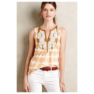 Anthropologie Embroidered Sedna Tank
