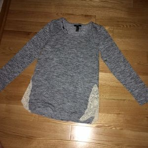 New gray long sleeve with lace!