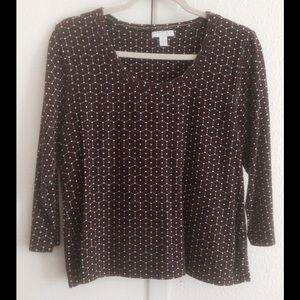Charter Club Tops - CHARTER CLUB black red knit Scoop Neck Petite Top