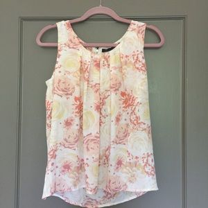 Rose and Olive Tops - NWT Rose and Olive flower print top.Lovely!