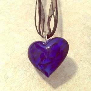 Jewelry - Blue heart necklace!