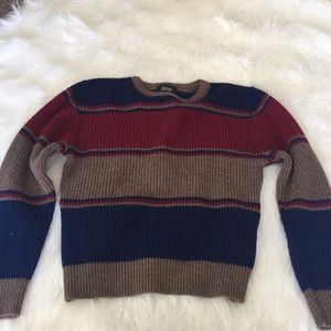 Crop stripped sweater size small