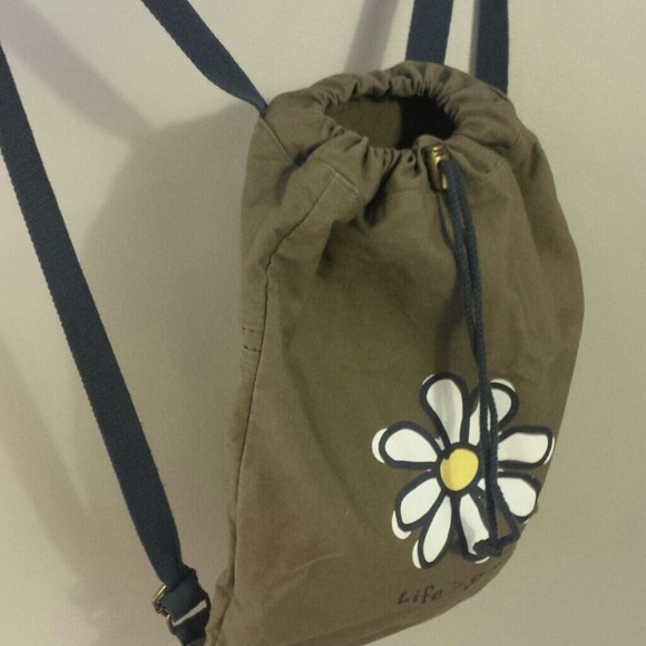 6c174abd3ab3 Life is Good Handbags - Life is Good Drawstring Canvas backpack