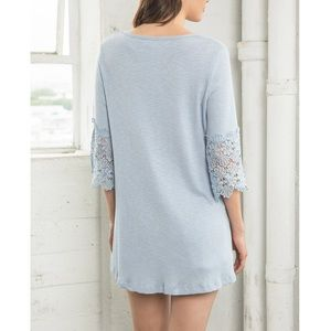 Bare Anthology Tops - Crochet Sleeve Tunic Top