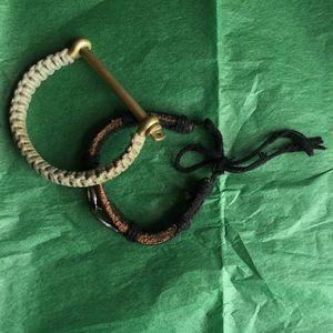Miansai Jewelry - MIANSAI Turks Scew Cuff plus 1 Leather Bracelet.