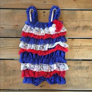 Other - 4th of July SALE!!! Lace Baby Girl Romper!!!