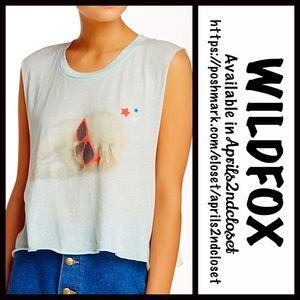 Wildfox Tops - ❗️1-HOUR SALE❗️WILDFOX Tee Crop Top Sleepy Pup