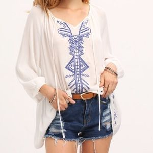 Tops - New Bohemian Embroidered Top