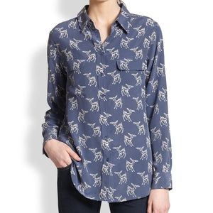Equipment Deer Print Shirt XS