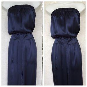 ABS Strapless Silk Jumpsuit.