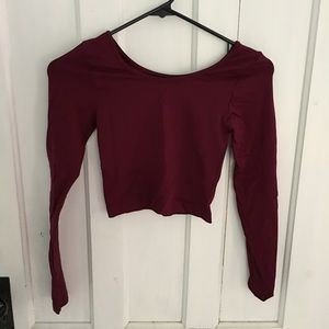 Sugarlips Tops - Maroon Sugarlips Croptop One size