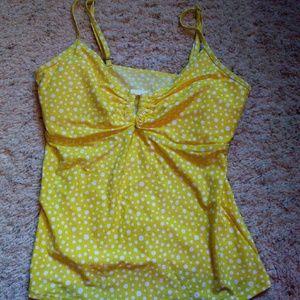 Simply Be Other - Simply swim yellow polka dot tankini swim top