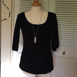 Anthropologie Tops - Great basic! Anthropologie cotton black top S