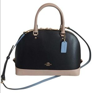 NEW Coach Leather Colorblock Satchel