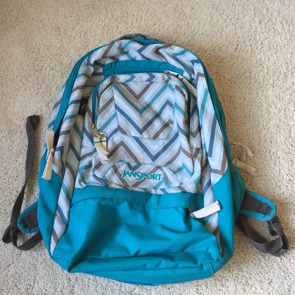 90% off Jansport Handbags - Blue Chevron Jansport Airlift Backpack ...