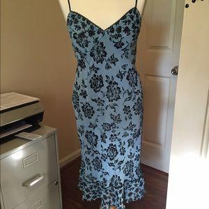 Tessuto Dresses & Skirts - ❤ Romantic blue and black ruffle hem dress size S