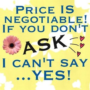 Negotiate with me!