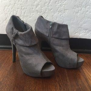 Grey Heel Booties