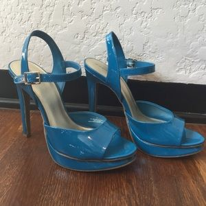 Xhilaration Shoes - Teal High Heels with ankle strap