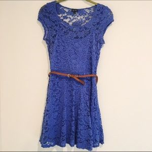 Lily Rose Dresses & Skirts - 🌸FREE ADD-ON Lily Rose Blue Lace Dress Size M