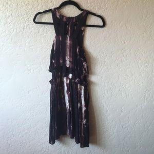 Purple dress with cutouts