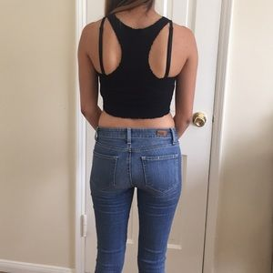 Urban Outfitters Tops - Urban Outfitters Ecoté Black Crop Top Size XS