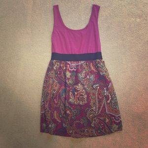 MOVING SALE Xhilaration magenta paisley dress.