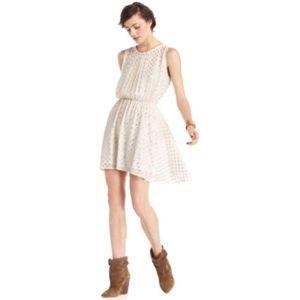Maison Jules Gold Polka Dot Dress Size XL