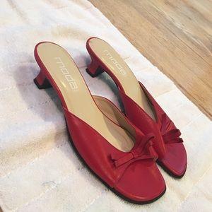 Knighbury Shoes - red cute heels