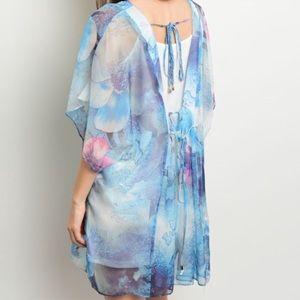 ❗️Blue Cape Shirt Slip Tunic Dress