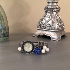  Grace Corinthians 15:10 Silver Druzy Bracelet