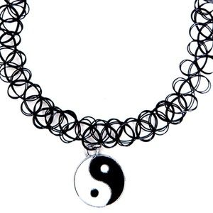Jewelry - Yin yang black tattoo choker necklace