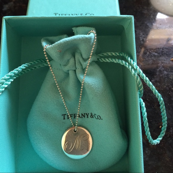 1284fdb67 Tiffany & Co. Jewelry | Tiffany Letter M Pendant And Necklace | Poshmark