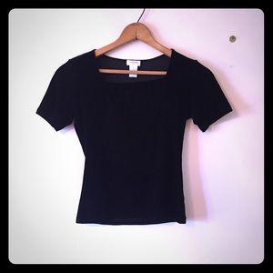Nordstrom intimates black velvet top
