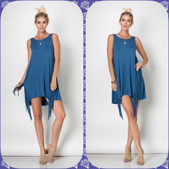 Boutique Dresses Sale Sleeveless Tunic Dress W Fringe Poshmark