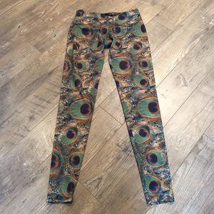 Onzie peacock leggings yoga pants