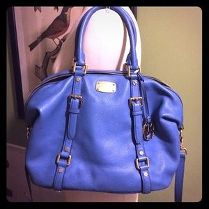 Michael Kors Handbags - Michael Kors Blue Large Bedford Satchel Bowling