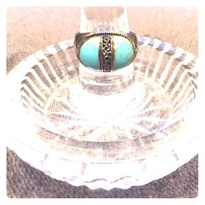 Jewelry - Silver marcasite and turquoise ring