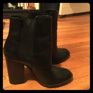 Black heeled booties. Size 7. Banana Republic