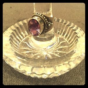 Jewelry - Silver amethyst ring in southwestern style